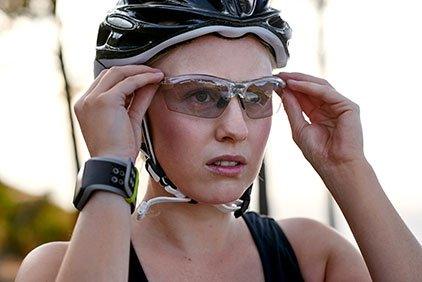 Woman Wearing Sports Goggles