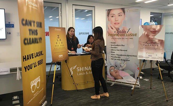 Shinagawa Exhibits Treatments in Safeway Philtech Inc. Heath and Wellness Event