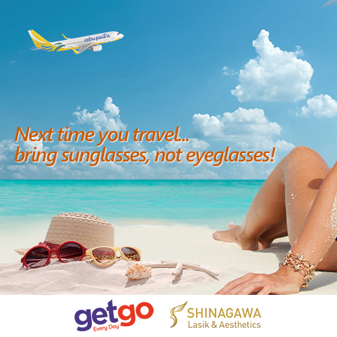 Next time you travel...bring sunglasses not eye glasses!