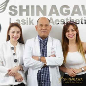 Aiko Climaco & Maica Palo with Dr. Guerrero of Shinagawa Lasik & Aesthetics