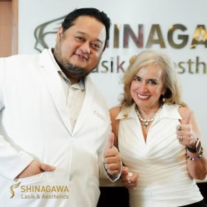 Cynthia Lagdameo with Dr. Jaime Dinglasan at Shinagawa-Makati