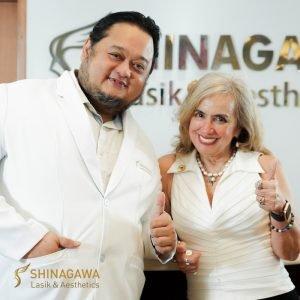 Cynthia Lagdameo with Dr. Jaime Dinglasan at Shinagawa-Makati