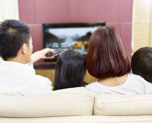 Family Watching Television Together | Shinagawa LASIK Blog