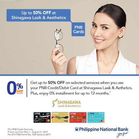 Special Offer for PNB Cardholders 0% Installment, Pay Later | Shinagawa Promos & Offers