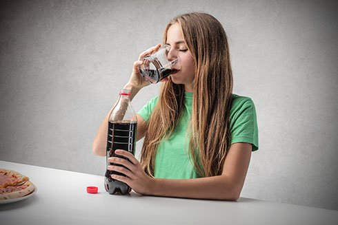 Woman Drinking Some Soda