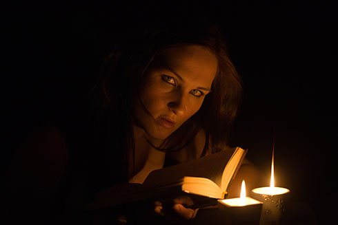 A Woman Reading in the Dark