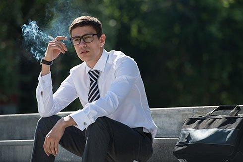 A Man Smoking