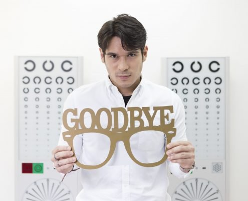 Pancho Holding the Goodbye Eyeglass