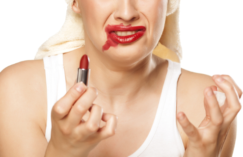 Wrong Application of Lipstick