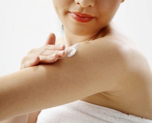 Body Cream on a Woman's Body