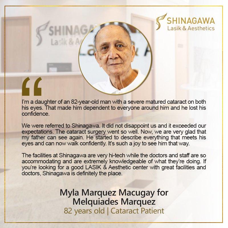 Melquiades Marquez for Cataract Surgery at Shinagawa PH