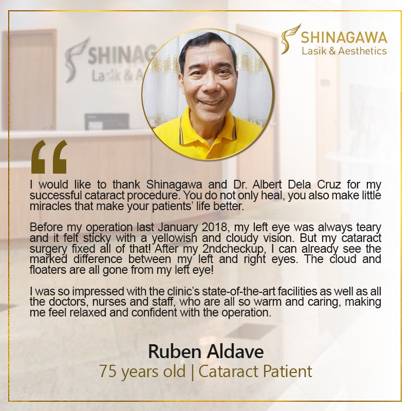Ruben Aldave for Cataract Surgery at Shinagawa PH