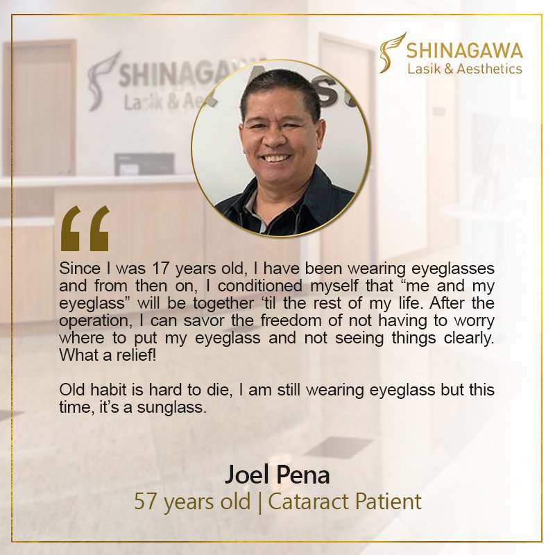 Joel Pena or Cataract Surgery at Shinagawa PH