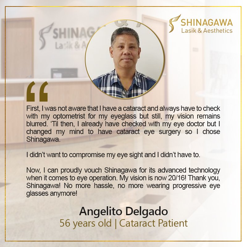 Angelito Delgado for Cataract Surgery at Shinagawa PH