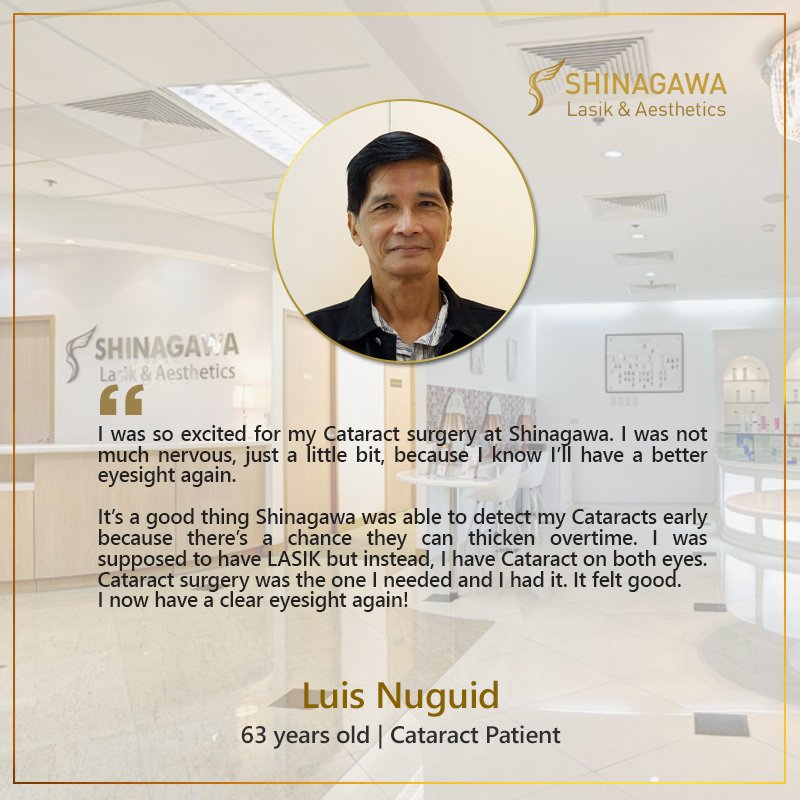 Luis Nuguid for Cataract Surgery at Shinagawa Lasik & Aesthetics