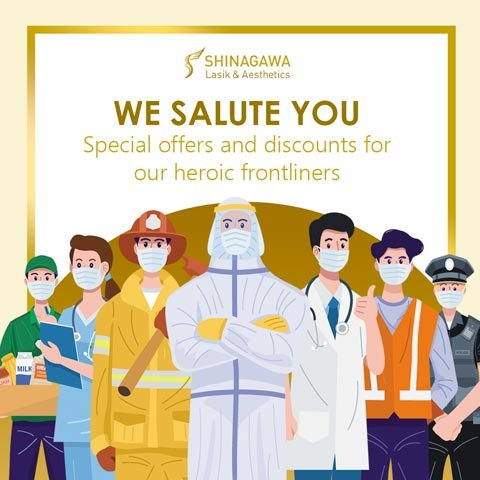 Exclusive LASIK Discounts To All Heroic Frontliners | Promos & Offers