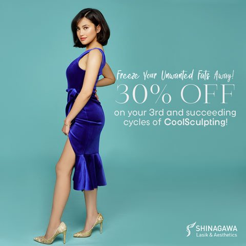 30% OFF On Your 3rd And Succeeding Cycles of CoolSculpting | Promos & Offers