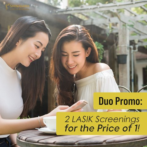 Duo Promo: 2 LASIK Screenings for the Price of 1 | Promos & Offers