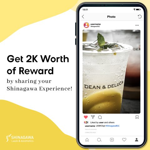 Share Your Shinagawa Experience And Get 2K Worth Of Reward | Promos & Offers