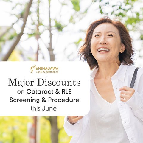 Major Discounts On Cataract & RLE Screening & Procedure   Promos & Offers