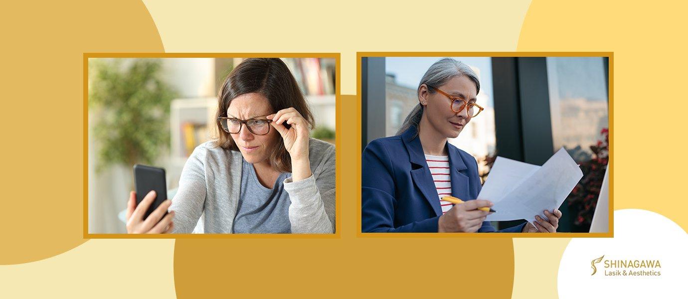 Struggling Reading In Your 40's? Introducing Presbyopia | Shinagawa Blog