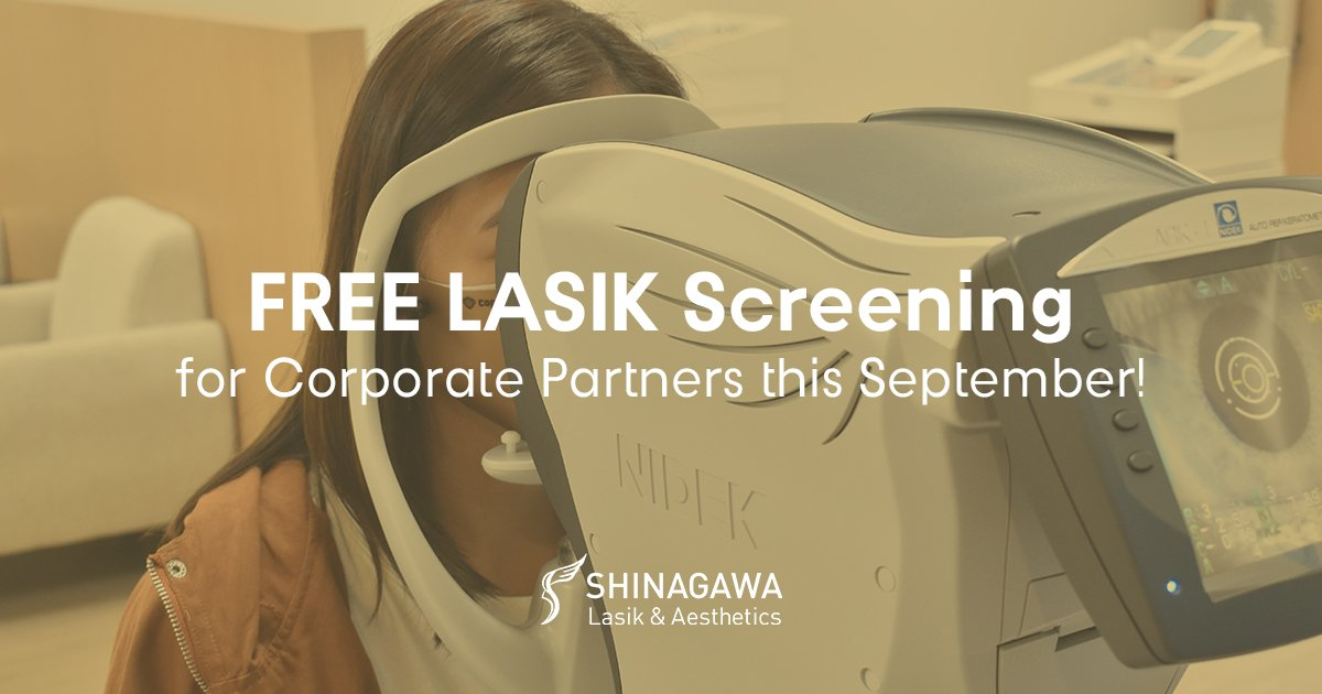 FREE LASIK Screening For Shinagawa Corporate Partners   Promos & Offers