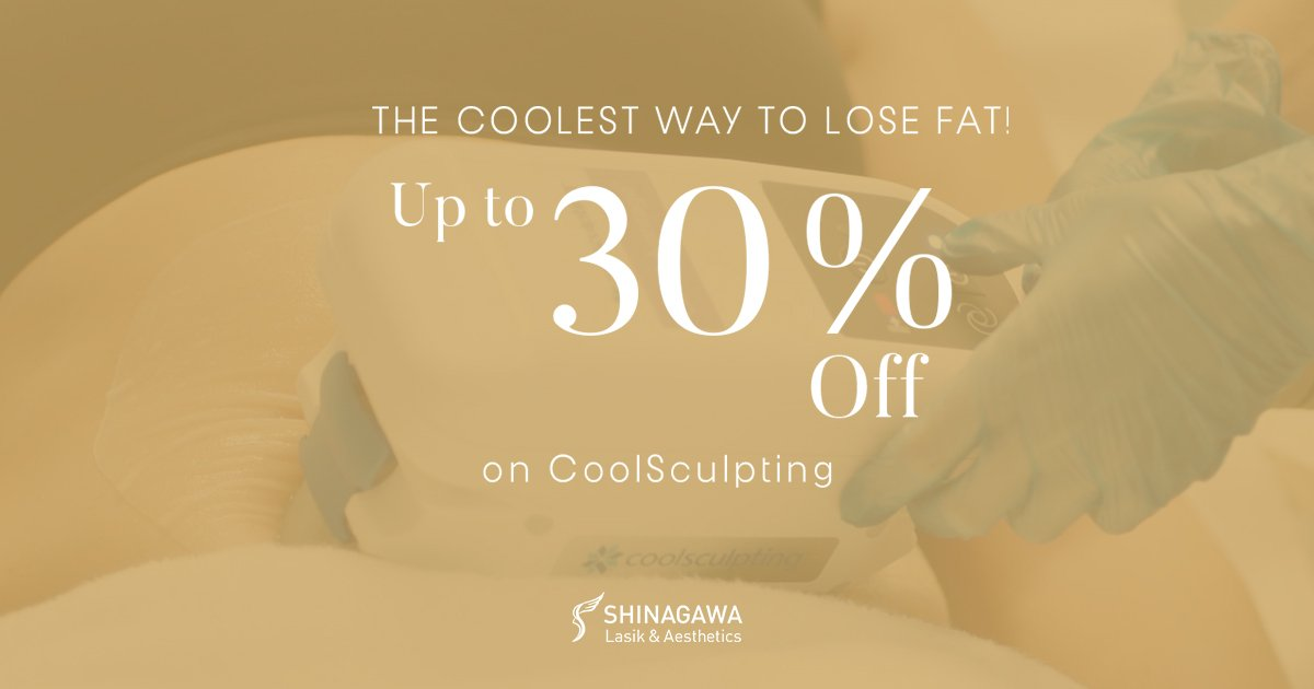 Up To 30% OFF On CoolSculpting At Shinagawa   Promos & Offers